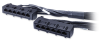 APC Data Distrbution Cable, CAT6 UTP CMR 6XRJ-45 Black 9FT (2.7M) -- DDCC6-009 - Image