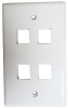 4 Port Wall Plate for Keystone -- 68PL-A4