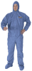 KLEENGUARD A60 Bloodborne Pathogen & Chemical Splash Protection Apparel - A60 coveralls, zipper front w/ storm flap, elastic back, wrists, ankles, hood & boots > SIZE - M > UOM - 24/CS -- 45092