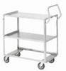 Ergonomic SS cart without guard rails; 24