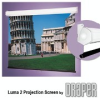 Heavy-Duty Wall or Ceiling Mounted Projection Screen -- Luma 2 with AutoReturn Roller