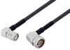 TNC Male Right Angle to N Male Right Angle Cable 200 cm Length Using LMR-240 Coax with HeatShrink -- PE3W00815/HS-200CM -Image