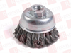 """MERCER TOOL 189014B ( KNOT CUP BRUSHES - RIGHT ANGLE GRINDERS, 2-3/4"""" X M14 X 2.0 , WIRE TYPE .020 CARBON STEEL ) -Image"""