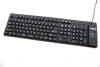 Waterproof Full-size Russian Keyboard USB/PS2 - Black -- KBWKFC109RU-BK