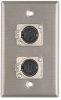 Wall Plate, 2 XLRF Connectors, 1 Gang -- 7940 - Image