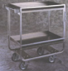 CARTS - Guard Rail, Heavy Duty, Stainless Steel, Spring-Glide Casters, Lakeside 18 x 27 (17), 19 3⁄8x 32 5⁄8x 34 1⁄2 -- 1161111
