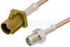 SMA Female to Curry FAKRA Plug Cable 24 Inch Length Using RG316 Coax -- PE39346K-24 -Image