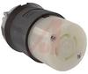 Connector Body; 30 A; 480 VAC (3 Phase); L16-30R (NEMA); Black/White; 75 degC -- 70116445
