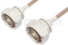 7/16 DIN Male to 7/16 DIN Male Cable 36 Inch Length Using RG400 Coax, RoHS -- PE34360LF-36 -Image