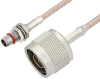Slide-On BMA Plug Bulkhead to N Male Cable 24 Inch Length Using RG316 Coax -- PE3C4945-24 -Image