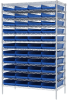 Akro-Mils 2000 lb Adjustable Blue Chrome Steel Open Adjustable Fixed Shelving System - 48 Bins - 2000 lb Total Capacity - AWS244830174 BLUE -- AWS244830174 BLUE - Image