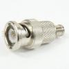 SMB Male (Plug) to BNC Male (Plug) Adapter, Nickel Plated Brass Body, 1.35 VSWR -- SM3634 - Image