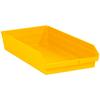 "23 5/8"" x 11 1/8"" x 4"" Yellow - Plastic Shelf Bin Boxes -- BINPS124Y -- View Larger Image"