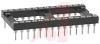 Socket, DIP;28Pins;Low Profile;Open;Solder Tail;0.6In.;Beryllium Copper;Tin/Lead -- 70206336 - Image