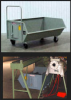 Heavy Duty Low Profile Industrial Chip Bin -- 044 Series