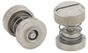 Captive Panel Screw-Low Profile Knob, Spring-loaded PF30 - Metric -- PF31-M4-30-BN-2 -Image