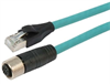 Category 5e M12 4 Position D code Double Shielded Industrial Cable, M12 F / RJ45, 10.0m -- T5A00014-10M -Image