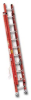 EXTRA HEAVY DUTY FIBERGLASS FLAT D-RUNG EXTENSION LADDER -- HD7140-2