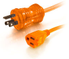 50ft 16 AWG Hospital Grade Power Extension Cord (NEMA 5-15P to NEMA 5-15R) - Orange -- 2306-48061-050 - Image