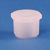 Natural Polypropylene Threaded Plug -- 64721