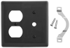 Standard Wall Plate -- NP128BK - Image