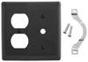 Standard Wall Plate -- NP128BK - Image