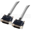 Metal Armored DB15 Cable, Male/Male, 50 ft -- CSMT15MM-50 -Image
