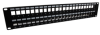 """3.5""""x19"""" (2U) 48 Port Shielded Keystone Slots panel with Cable Manager -- REF00307 -- View Larger Image"""