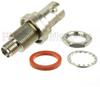Bulkhead SMA Female (Jack) to BNC Female (Jack) Adapter, Nickel Plated Brass Body, High Temp, 1.3 VSWR -- SM4701 - Image