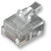 MH CONNECTORS - MHRJ126P6CR - RJ12 MODULAR PLUG, 6POS, 1 PORT -- 703090