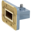 WR-112 to SMA Female Waveguide to Coax Adapter CPR-112G Grooved with 7.05 GHz to 10 GHz H Band in Copper, Paint -- FMWCA1011
