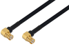 SMP Female Right Angle to SMP Female Right Angle Cable 36 Inch Length Using PE-SR405FLJ Coax -- PE3W08886-36 -Image