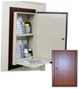 Wooden Laminate In Wall Medication Cabinet, Single Door.. -- WL2780RECPKG - Image