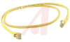 Cable, Patch; 3 ft.; 24 AWG; UnshieldedTwisted Pair; Booted; Yellow; UL Listed -- 70081259