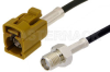 SMA Female to Curry FAKRA Jack Cable 24 Inch Length Using RG174 Coax -- PE39350K-24 -Image