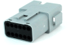 Molex 93444-6212 Sealed 12 Circuit Receptacle Housing, Pre-Assembled Rear Seal and Cover, Grey -- 38431 -Image