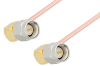 SMA Male Right Angle to SMA Male Right Angle Cable 18 Inch Length Using RG402 Coax, RoHS -- PE3819LF-18 -Image