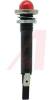 LED;Red;12V;2.67in L;0.63in Dia;0.38in mtg;Polished SS;Black Nylon;0.187 QC -- 70129904