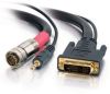 1.5ft RapidRun® Digital DVI-D™ + 3.5mm Audio Passive Flying Lead -- 2212-42431-002 - Image