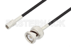 SMB Plug to BNC Male Cable 36 Inch Length Using RG174 Coax -- PE3C3318-36 -Image