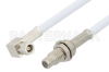 SMC Plug Right Angle to SMC Jack Bulkhead Cable 24 Inch Length Using RG188-DS Coax, RoHS -- PE34484LF-24 -Image