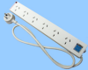 6 Position Australian Power Strip -- 85010051 - Image