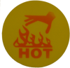 R50 HOT HAND WARNING LABEL 50°C (YELLOW) -- R50