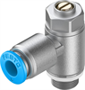 GRLZ-1/8-QS-6-D One-way flow control valve -- 193158