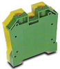 Grounding Terminal Block: 14-1/0 AWG, green/yellow, 25/pk -- DN-G1/0 - Image