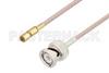 BNC Male to SSMC Plug Cable 72 Inch Length Using RG316 Coax -- PE3C4413-72 -Image