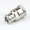 7/16 DIN Female (Jack) to 4.1/9.5 Mini DIN Female (Jack) Adapter IP67 Mated, Tri-Metal Plated Brass Body, 1.25 VSWR -- SM4418 - Image