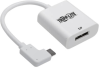 Right-Angle USB-C to DisplayPort Adapter Cable (M/F) - 3.1, Gen 1, 4096 x 2160 (4K), 5 Gbps, White -- U444-06N-DP-RA -- View Larger Image