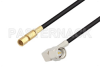 SMA Male Right Angle to SSMC Plug Low Loss Cable 60 Inch Length Using LMR-100 Coax -- PE3C4424-60 -Image
