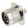4 Hole Flange SMA Female (Jack) to N Male (plug) Adapter, High Temp, 1.2 VSWR -- SM4256 - Image